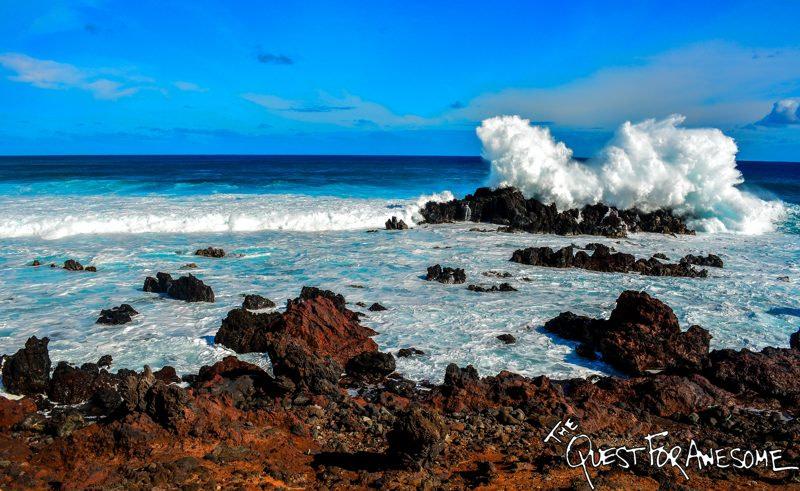 Waves Crashing On Easter Island