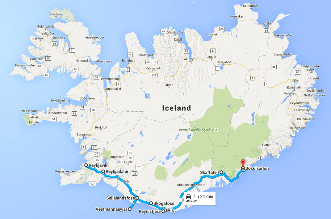 South Iceland Example Itinerary