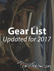 Travel the World 2017 Updated Gear List