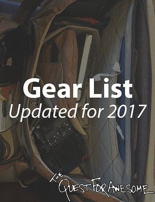 Travel the World 2017 Updated Gear List