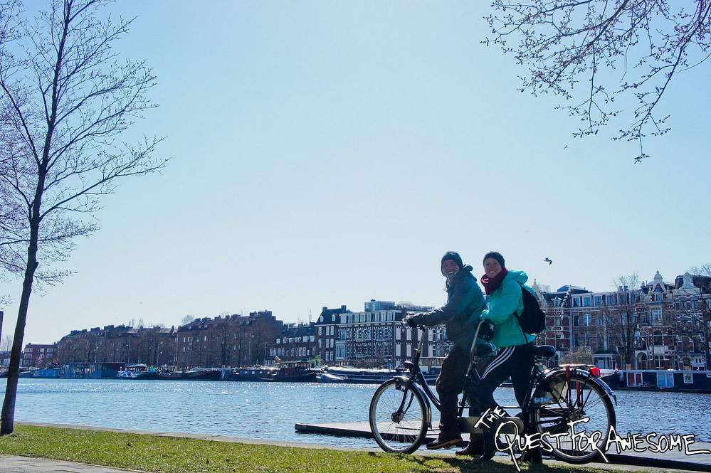 Tandem Bicycle in Amsterdam, Netherlands