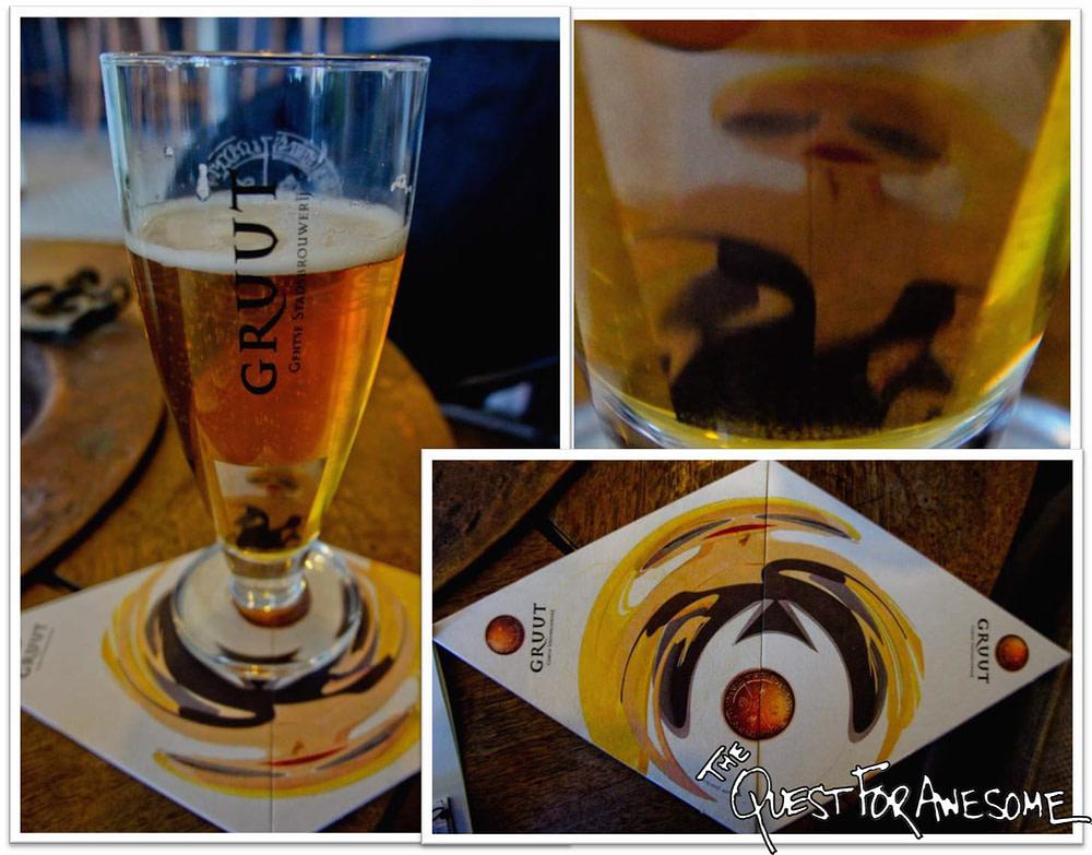 Gruut Brewery Coasters in Ghent, Belgium