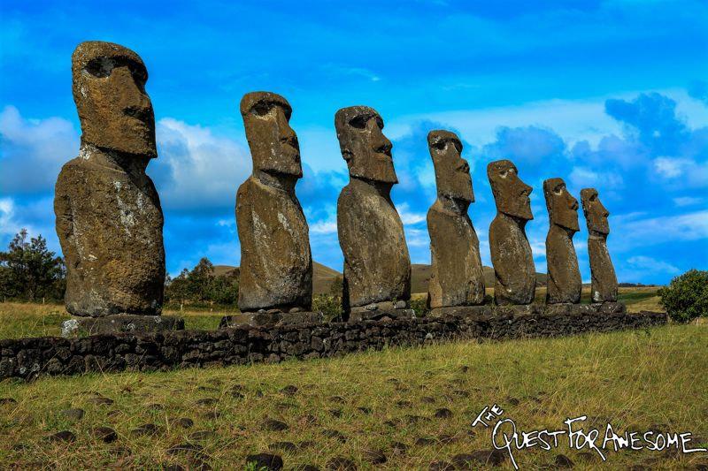 Ahu Akivi Easter Island, Chile