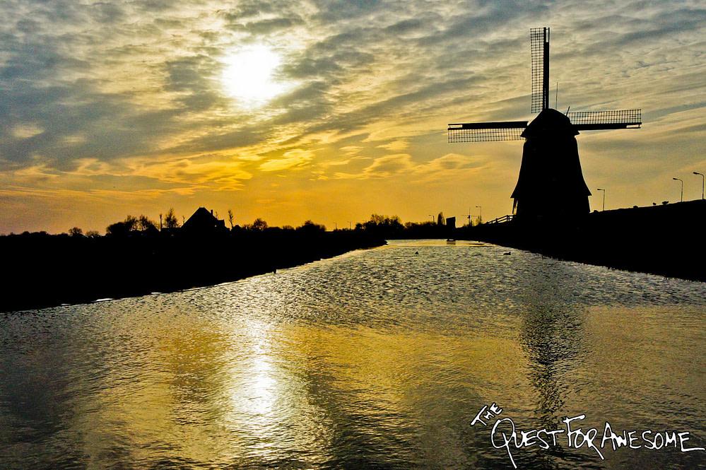 Windmill in Volendam, Netherlands