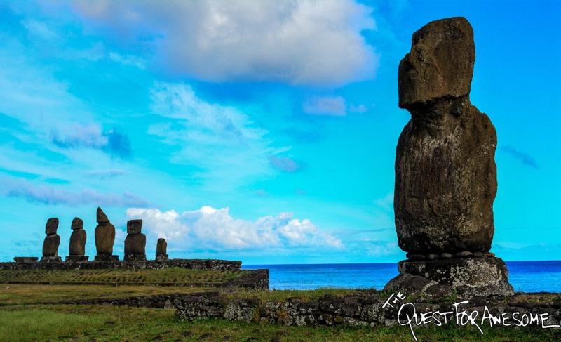 Akapu Moai - Easter Island, Chile