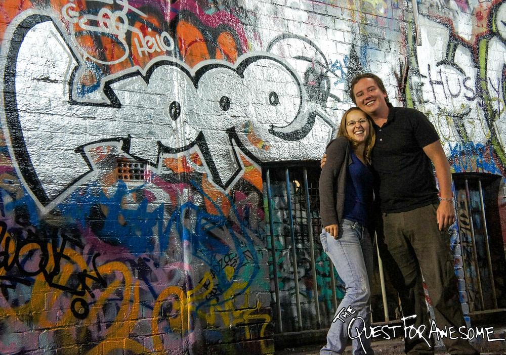 Saskia and Me in Hosier Lane, Melbourne
