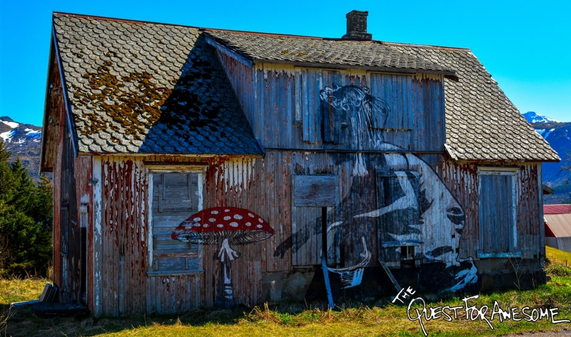 Lofoten Norway Street Art Pobel - The Quest For Awesome